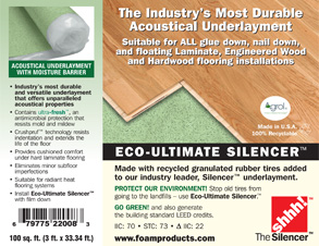Foam Products - Moisture barrier for vinyl plank flooring